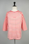 QUARTER SLEEVE STRIPES Tee PINKxWHITE(18SS-M5-060)
