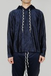 HOODED GYMASIUM TOP - NAVY (YT-C0201)