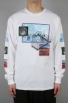 THE ROAD LEFT TRAVEL L/S T-SHIRT WHITE(18EL-SS-15)