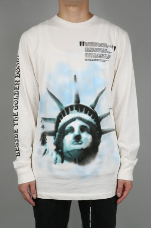 Off-White LIBERTY L/S TEE/WHITE(OMAB001E181850150210)