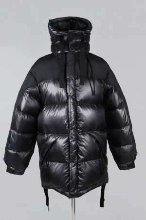 YSTRDY'S TMRRW BUBBLE DOWN COAT - BLACK (YT-JU0301)