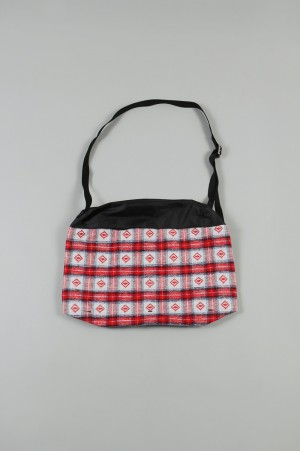 YSTRDY'S TMRRW GUESS CHECK SHOULDER BAG - RED (YT-BG0302)