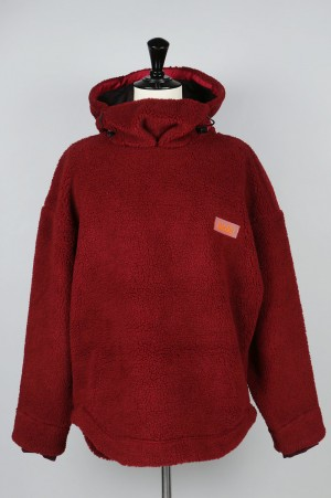 NAPA by Martine Rose T-JANNU POLAR SWEAT /BORDEAUX(N0YI8Z)