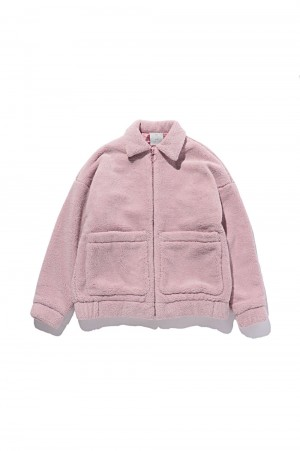 SEVEN Double Fleece Jacket / PINK(70863785)