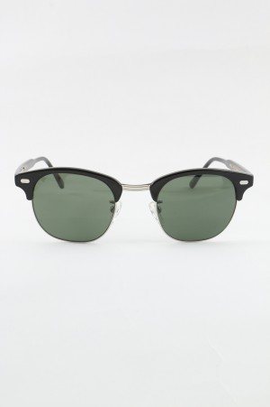 Moscot - Men - YUKEL SUNGLASSES - BLACK / SILVER