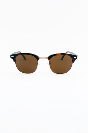 Moscot - Men - YUKEL SUNGLASSES - BURNT TORTOISE / GOLD