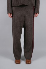pelleq rib stitch trousers -rock (KP0902-AW18)