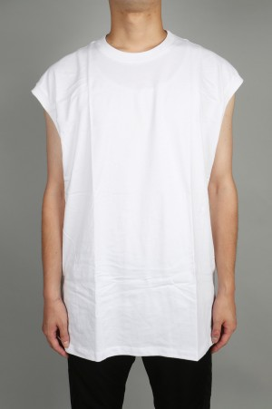 Hanes × Karla -Men- THE SLEEVELASS - WHITE
