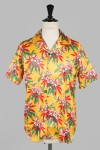 Cougar Yellow Hawaiian Shirt Short Sleeve