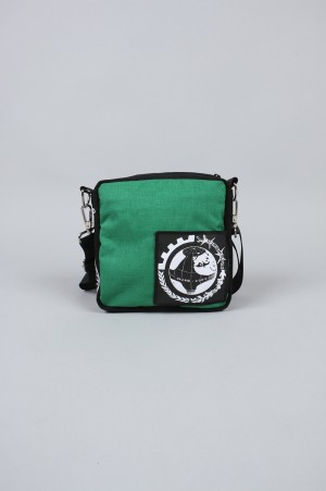 Dreamland Syndicate Shoulder Bag with Zipped Inner Pocket / GREEN(SB61801)