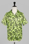 Cougar Lime Hawaiian Shirt Short Sleeve