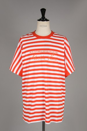 Martine Rose OVERSIZED STRIPE TEE/ORANGE(MRSS19-628)