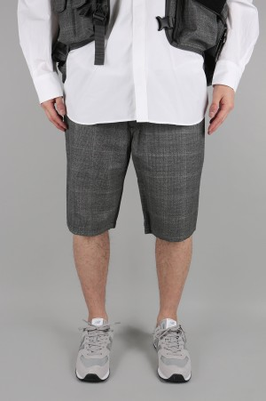 Junya Watanabe Comme des Garcons Man WOOL CHECK CHAMBRAY SHORTS (WC-P008-051)