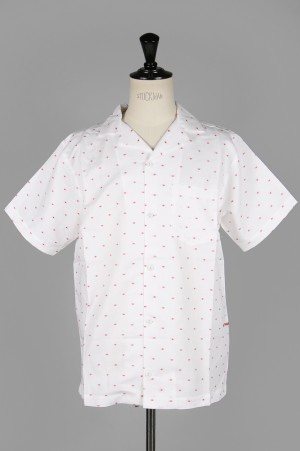 POP TRADING COMPANY HUGO SHIRT/WHITE&RED