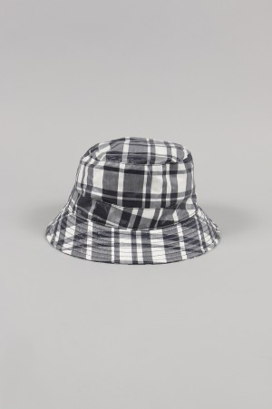 Maison Kitsune -Men- COATED LARGE CHECK BUCKET HAT (KUU89050)