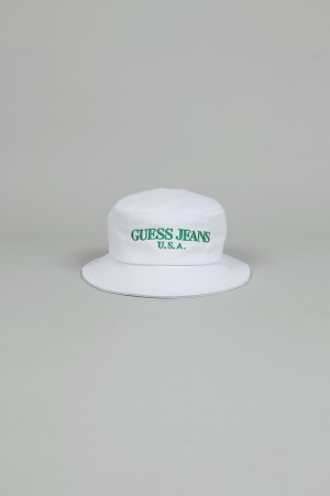 Guess Green Label Signature Dome Hat/WHITE(GRSS18-049)