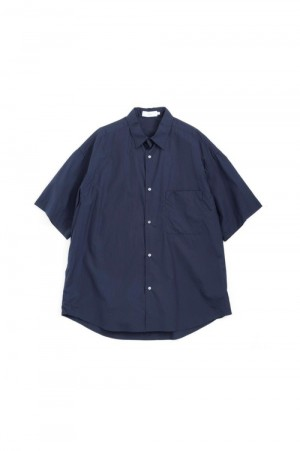 Graphpaper - Men - Broad Oversized S/S Shirt - NAVY (GM191-50031)