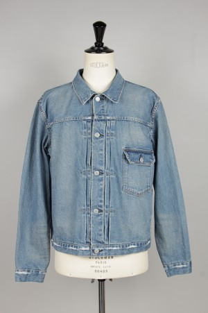 Remi Relief - Men - denim 1st jacket - USED BLUE (RN1001 SDC)