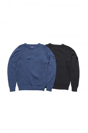The North Face Purple Label - Men - Indigo Crew Neck Sweater - INDIGO (NT6904N)