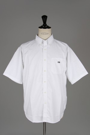 The North Face Purple Label - Men - Cotton Polyester OX B.D. Big H/S Shirt - WHITE (NT3917N)