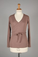 Todayful Cottonlinen Cache-coeur Tops-DUSTY PINK (11910606)
