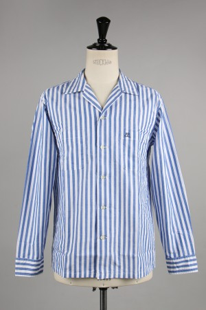 Standard California SD STRIPE OPEN COLLAR SHIRT