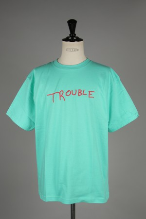 Purple Things -Men- TROUBLE S/SL T-SH -TURQUOISE- (PT-19A-009ST)
