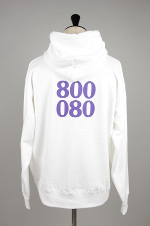 Purple Things -Men- 800 HOODIE -WHITE- (PT-19A-017HS)