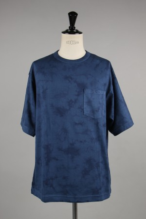 Gold HEAVY SUVIN COTTON WIDE T-SHIRT TIE DYE DYED (GL78139)