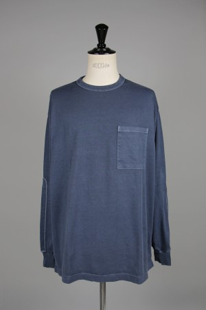 Gold LIGHT SUVIN COTTON L/S WIDE T-SHIRT PIGMENT DYED (GL68143)