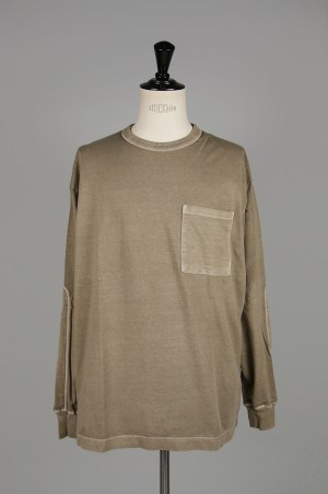 Gold LIGHT SUVIN COTTON L/S WIDE T-SHRT PIGMENT DYED (GL68143)