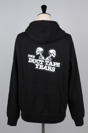 The Duct Tape Years DOUBLE HEADER PULLOVER HOODIE/BLACK