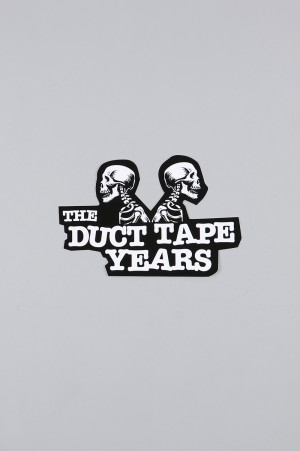 The Duct Tape Years DOUBLE HEADER STICKER/BLACK/WHITE