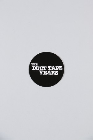 The Duct Tape Years MAIN LOGO CIRCLE STICKER/BLACK/WHITE