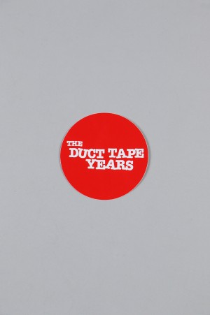 The Duct Tape Years MAIN LOGO CIRCLE STICKER/RED/WHITE