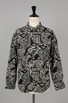 Masses GEOMETRIC SHIRT L / BLACK