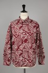 Masses GEOMETRIC SHIRT L / BURGUNDY