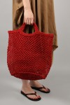 JUTE MACRAME BAG -LARGE -Red