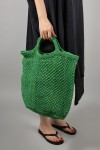 JUTE MACRAME BAG -LARGE -Green