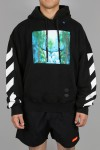 DIAG WATERFALL OVER HOODIE/1088 BLACK MULTICOLOR(OMBB037E19E300151088)