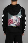 MARIANA SLIM ZIPPED HOODIE/1088 BLACK MULTICOLOR(OMBE001E19E300051088)