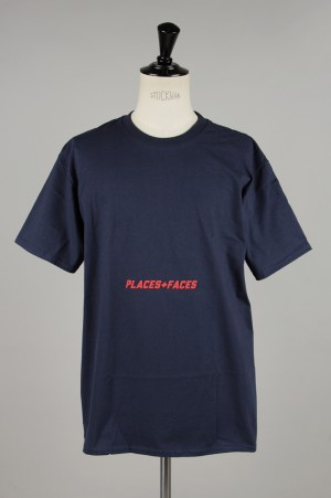 Places+Faces RED LOGO BELLY TEE/NAVY