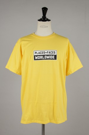 Places+Faces WORLDWIDE TEE/YELLOW