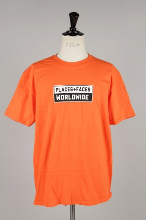Places+Faces WORLDWIDE TEE/ORANGE
