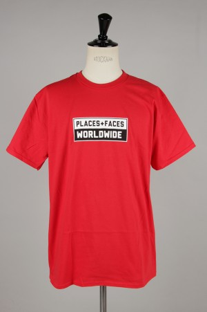 Places+Faces WORLDWIDE TEE/RED