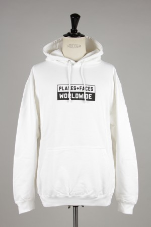 Places+Faces WORLDWIDE HOODIE/WHITE
