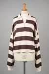 The Newhouse STRIPE TOMBOY SKIPPER SHIRT -Brown (TNH19200-13)