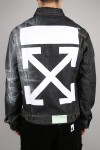 Off-White ARROW SLIM DENIM JKT / BLACK(OMYE005F19F050441010)