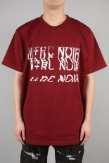 M+RC Noir DISTORSTION FAKE POCKET TEE/BURGUNDY