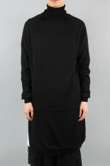Ground Y High Neck Slit Knit / BLACK (GC-K02-140-3A19)